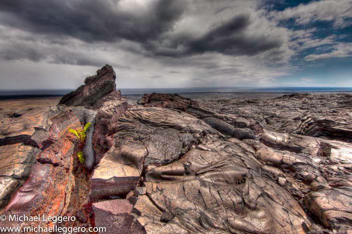 Landscape photo of lava field in Hawaii by Michael Leggero