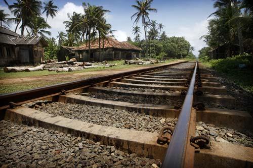 Photo of railway in Hikkaduwa by Marielle van Uitert