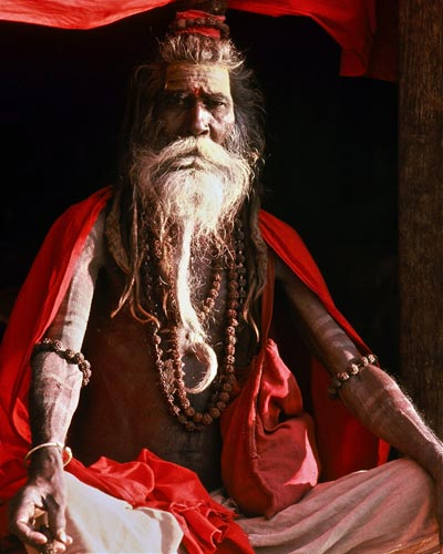 Photo of Indian Holy Man, Nepal by Ron Veto