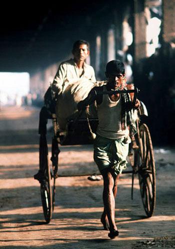 Photo of rickshaw driver in Calcutta, India by Ron Veto