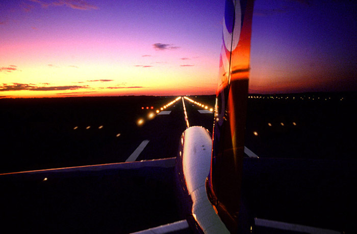 Photo of airbus at sunset by Gert Wagner