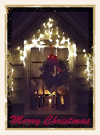 Christmas photo made into Christmas card by Noella Ballenger and M. Meier