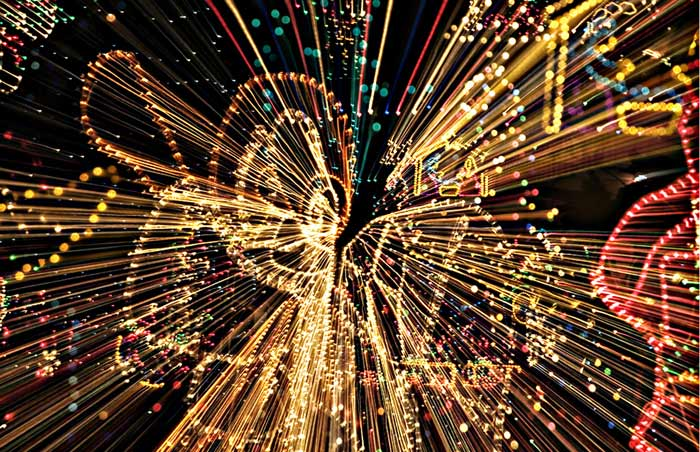 motion photo of angel christmas lights by noella ballenger