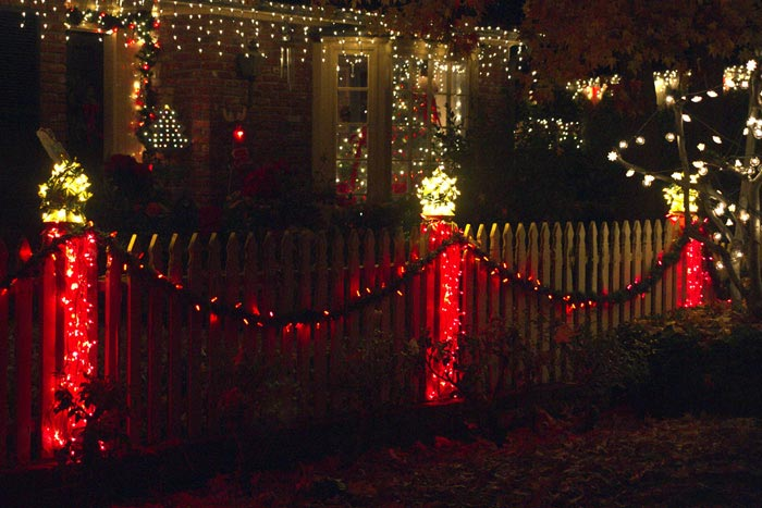 Photo of Christmas decorations in yard by Noella Ballenger