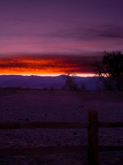 Sunset photo at Death Valley National Park by Michael Leggero.