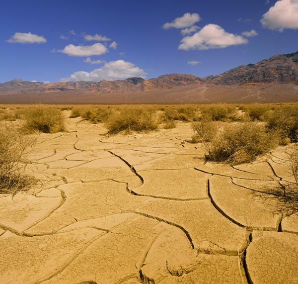 Landscape photo of dried valley floor around Eureka Valley Sand Dunes at Death Valley National Park by Michael Leggero.