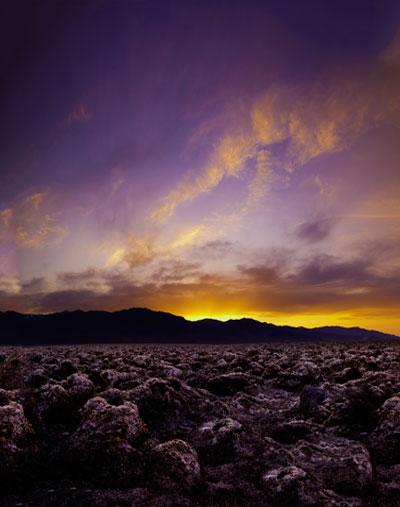 Sunrise photo of the salt flats at Death Valley National Park by Michael Leggero.