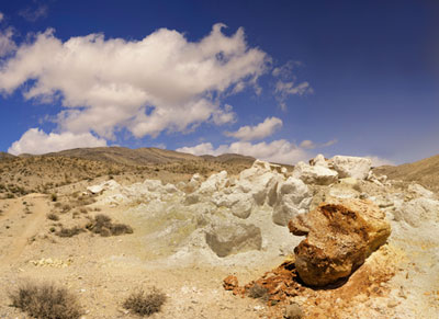 Landscape photo of sulfur mine at Death Valley National Park by Michael Leggero.