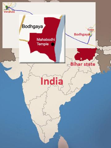 Map of Bohdgaya, India