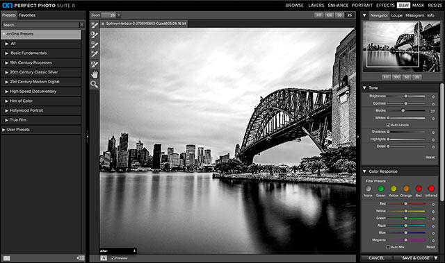 Perfect Photo Suite 8 Software: screen shot of Perfect B&W.