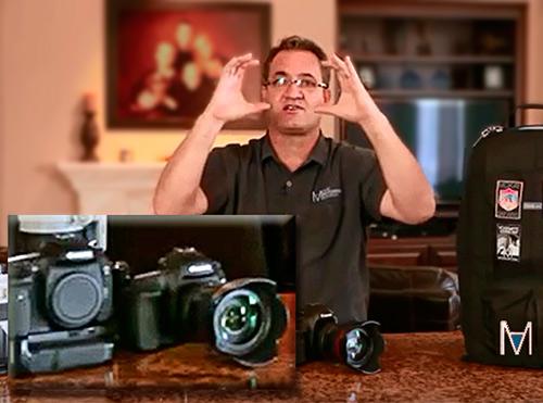 Image of David McKay explaining the camera sensor sizes.
