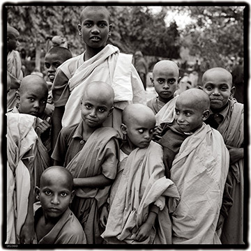 Photo of young Monks in India by Dennis Cordell