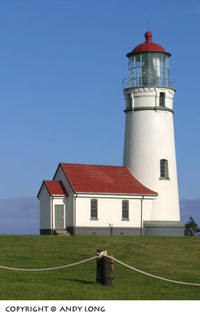 Early morning light makes for a great shot of the Cape Blanco lighthouse near Port Orford.