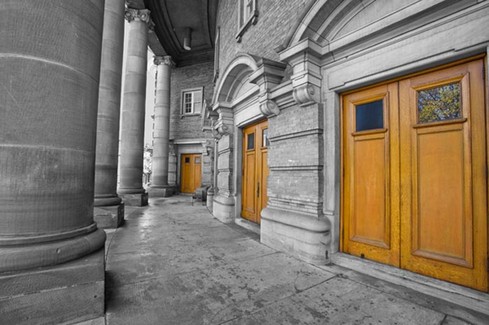 Photo of Convocation Hall entrance in Toronto, Ontario, Canada by Randy Romano