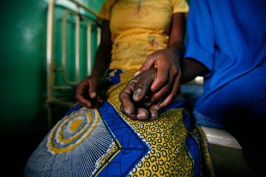 Photo of Isa & Latifah holding hands, Ghana, Africa by Marielle van Uitert