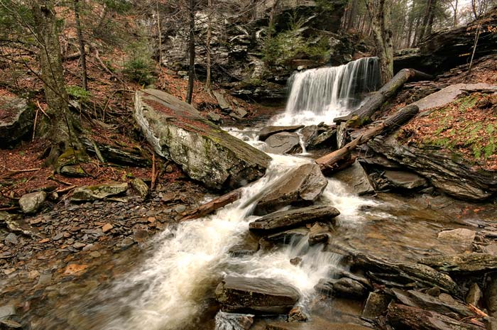 Photo of B. Reynolds Falls at Ricketts Glenn State Park by Robert Hitchman