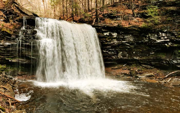 Photo of Harrison Wright Falls at Ricketts Glenn State Park by Robert Hitchman