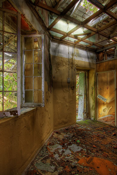 HDR image: The worn out interior of the Great Stirrup Lighthouse in the Bahamas by Jim Austin.