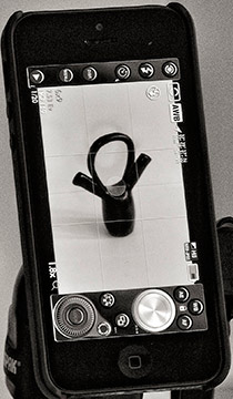 Image of the photo control panel of a smartphone by Allen Moore.