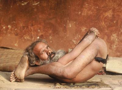 Photo of Holy Man in Kathmandu, Nepal by Ron Veto