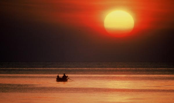 Photo of Sunset on Ko Phi Phi, Southern Thailand by Ron Veto