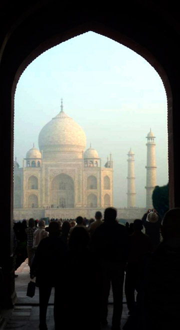 Photo of the Taj Mahal from inside the gate by Rick Clark