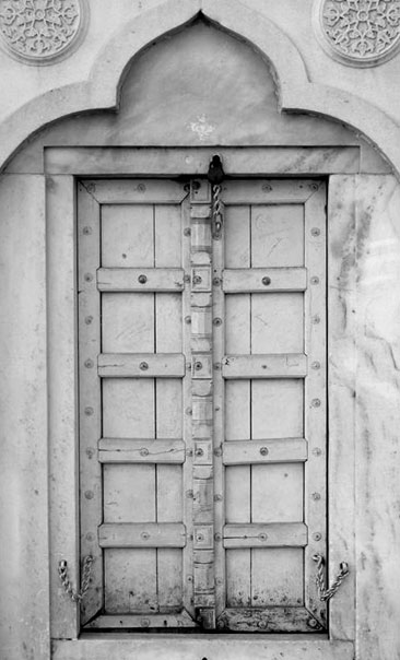 Photo of a mosque style door at the Taj Mahal by Rick Clark