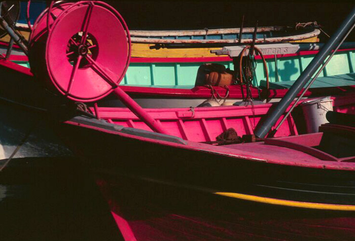 Color photo of boats photo taken in French fishing port by Marie-Claire Montanari
