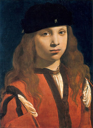 Image of Portrait of a Youth by Giovan Antonio Boltraffio (about 1495-1498).