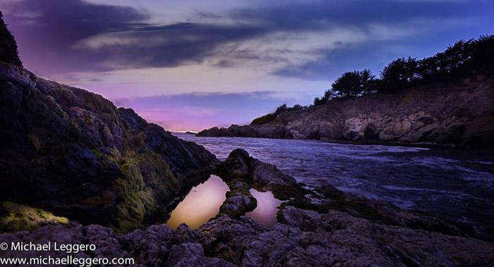 Photoshop manipulated photo: California coast by Michael Leggero