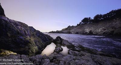 Pre-photo manipulation - California coastline by Michael Leggero
