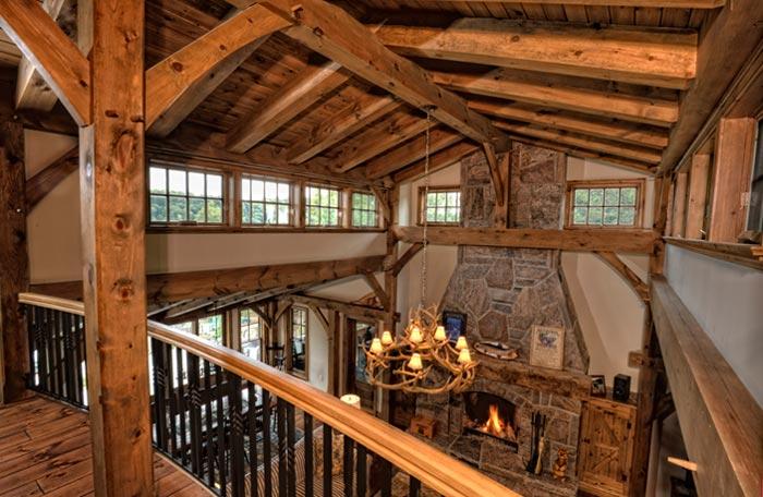Interior home photography - photo of interior wood beams by Randy Romano