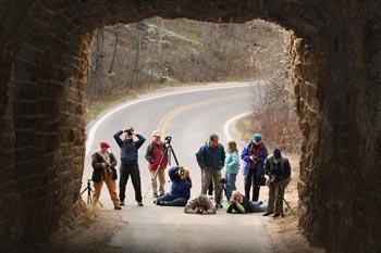Photo of photographers at Mt. Rushmore National Memorial Park
