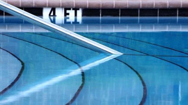 Swimming pool reflection photo by Marla Meier