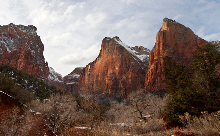 Landscape photo of rock formations in Zion National Park in Utah by Noella Ballenger.
