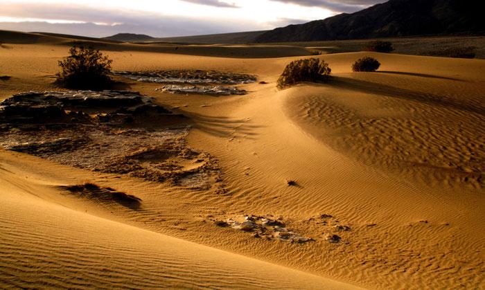 Landscape photo of desert in Death Valley, California by Noella Ballenger