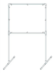 PVC pipe stand for backdrop for hummingbird studio photography.