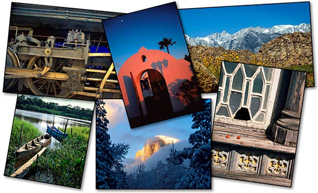 Collage of photo that used Photoshop CS6 or CC to create a good color print by John Watts.