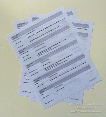 Image of documents needed when traveling by Margo Taussig Pinkerton.
