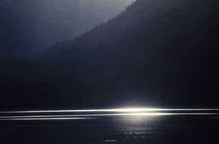 Light on Jackson Lake in Grand Teton National Park, Wyoming by Noella Ballenger.