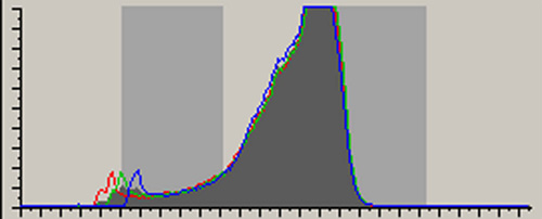 Photo of histogram by Andy Long