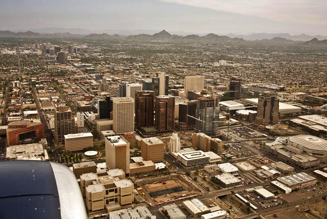 Photo of Phoenix, Arizona from a plane by Noella Ballenger
