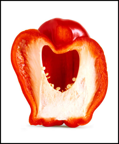 "Photo of pepper titled ""The Scream"" by Piero Leonardi"