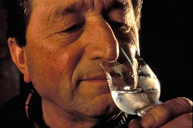 photographing people -  man drinking wine