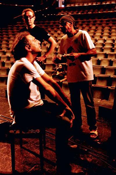 Photo of Antonello Salis, Stefano Bollani and Jasper Bodilsen at The Israeli Opera by Maya Hed
