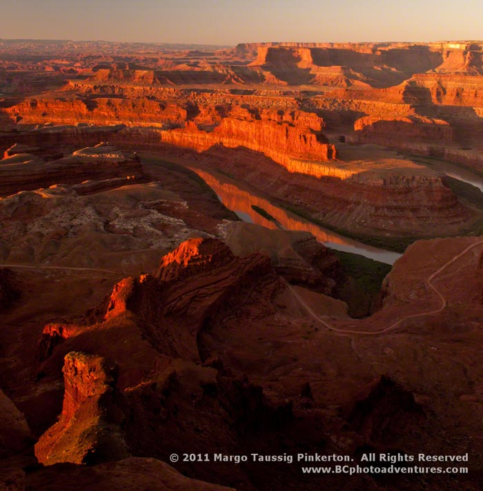 Sunrise photo of the Colorado Plateau in Utah by Margo Taussig Pinkerton.