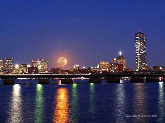 Super Moon Over Boston
