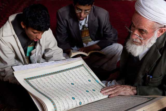 A Quran Teacher with His Students