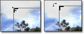 Photoshop CS6 - Innovative New Crop Tool: screen shot of double-headed crop tool by John Watts.