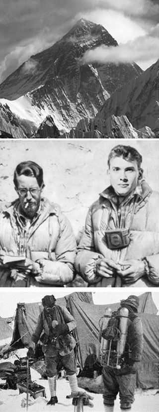 Photos of Mt. Everest, George Mallory and Andrew Irvine